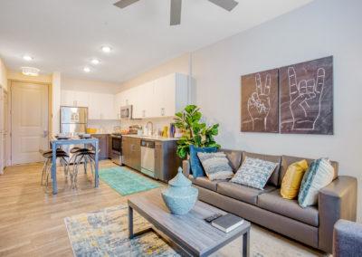 Furnished Living Room at Liv+ Arlington
