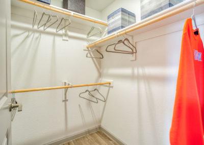 Closet of an Apartment at Liv+ Arlington