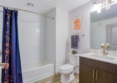 Bathroom of an Apartment at Liv+ Arlington