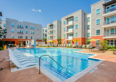 Community Pool Area at Liv+ Arlington